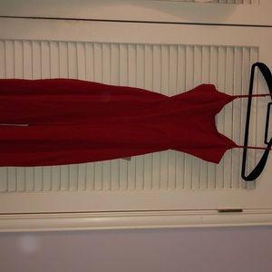 Red jumpsuit SONIA